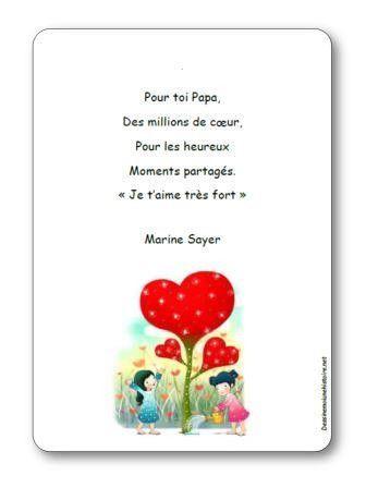 Poeme Fete Des Papas