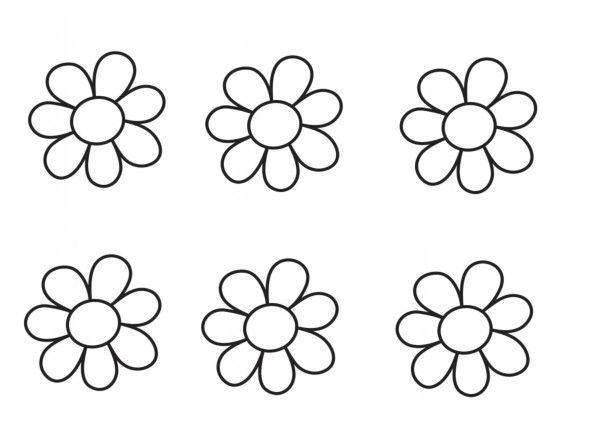 Gommettes fleurs - Colorier une fleur ...